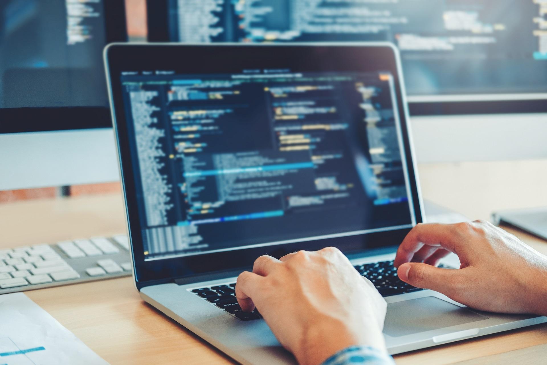 Developing programmer Development Website design and coding tech
